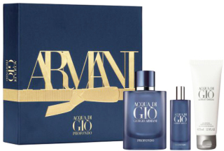 Giorgio Armani Acqua di Gio Profondo Men SET - Eau de Parfum 75 + shower gel 75 ml + mini EdP 15 ml