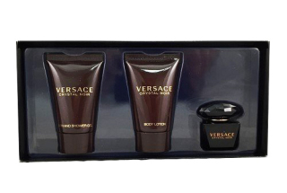 Versace Crystal Noir SET - Eau de Toilette 5 ml + shower gel 25 ml + body lotion 25 ml